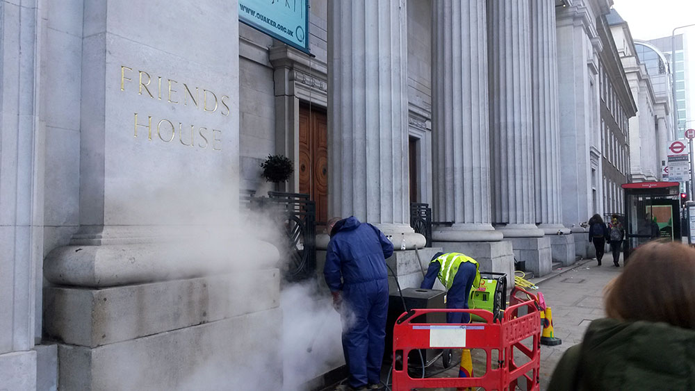 facade steam cleaning